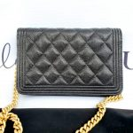Authentic Chanel boy wallet on chain monthly payments