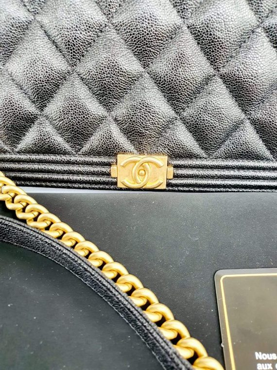 Authentic Chanel boy wallet on chain luxury station ph