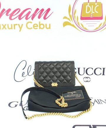 Authentic Chanel boy wallet on chain price