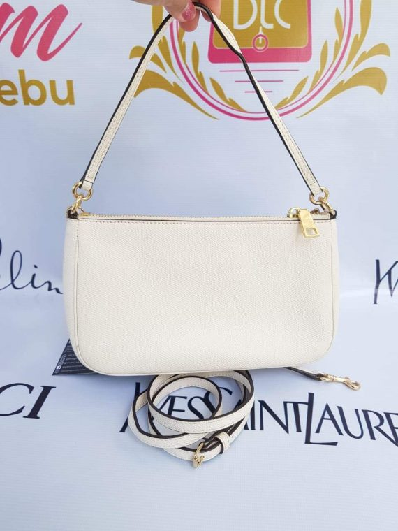 Coach 2 way sling bag mini in ivory white in champagne gold hardware