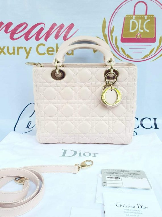 Authentic Lady Dior In light pink medium size preloved ebay philippines