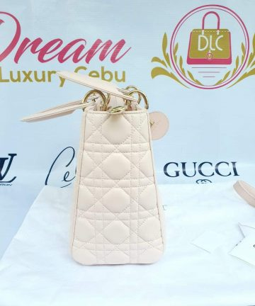 Authentic Lady Dior In light pink medium size preloved buy and sell