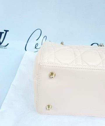 Authentic Lady Dior In light pink medium size preloved pawn online