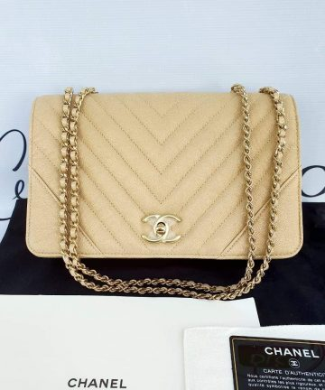 Brand new Chanel chevron Statement flap buy and sell