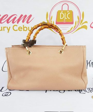 Authentic Gucci tote nude pink