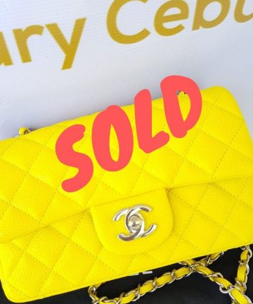 sold Authentic Chanel Mini Flap Caviar in Yellow