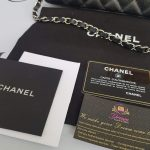 Authentic Chanel east west chain clutch in black caviar silver hardware consignment