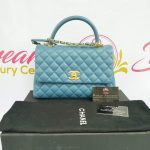 Authentic Chanel coco handle in blue Jean Matte gold hardware philippines