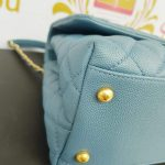 how much Authentic Chanel coco handle in blue Jean Matte gold hardware