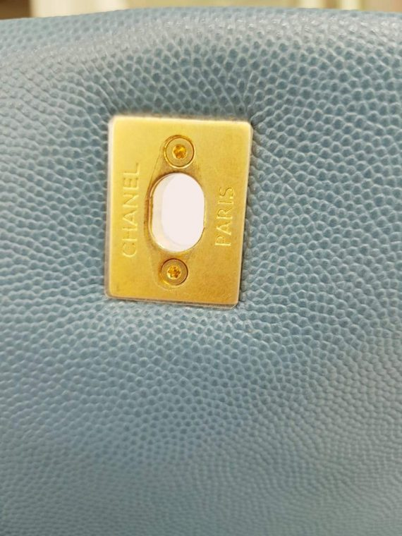 Authentic Chanel coco handle in blue Jean Matte gold hardware near me