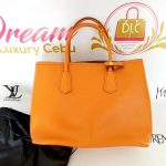 Authentic Prada saffiano cuir in papaya monthly package