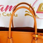 Authentic Prada saffiano cuir in papaya monthly payments