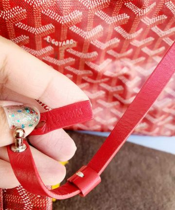 Authentic Goyard st. Louis Gm in red buy and sell