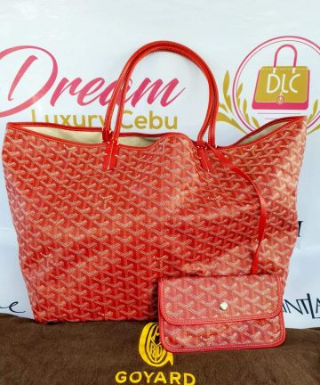 Authentic Goyard st. Louis Gm in red buy now pay later