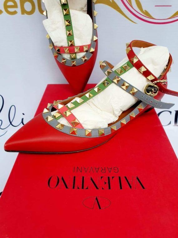 where to buy and sell Authentic Valentino cage flats