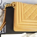 Unused Chanel le boy in small size sell