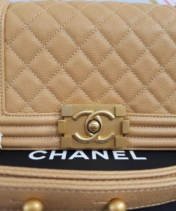 Unused Chanel le boy in small size caviar leather philippines