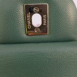 Authentic Chanel classic jumbo double clap in blue green Series 24 cheap