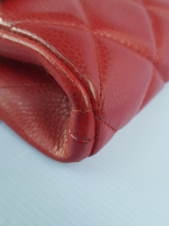 Authentic Chanel Jumbo Clutch Burgundy Red consignment cebu