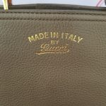pawn Gucci Bamboo Handbag Grained Leather