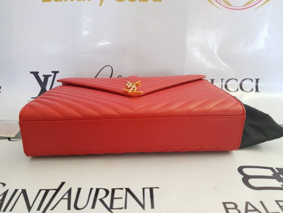 Authentic Ysl Saint Laurent monogramme envelope Large in caviar leather Gold hardware pawn philippines