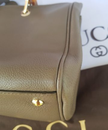how much Gucci Bamboo Handbag Grained Leather