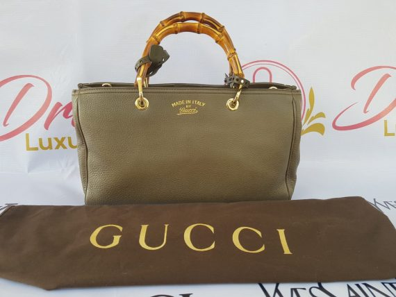 Gucci Bamboo Handbag Grained Leather philippines