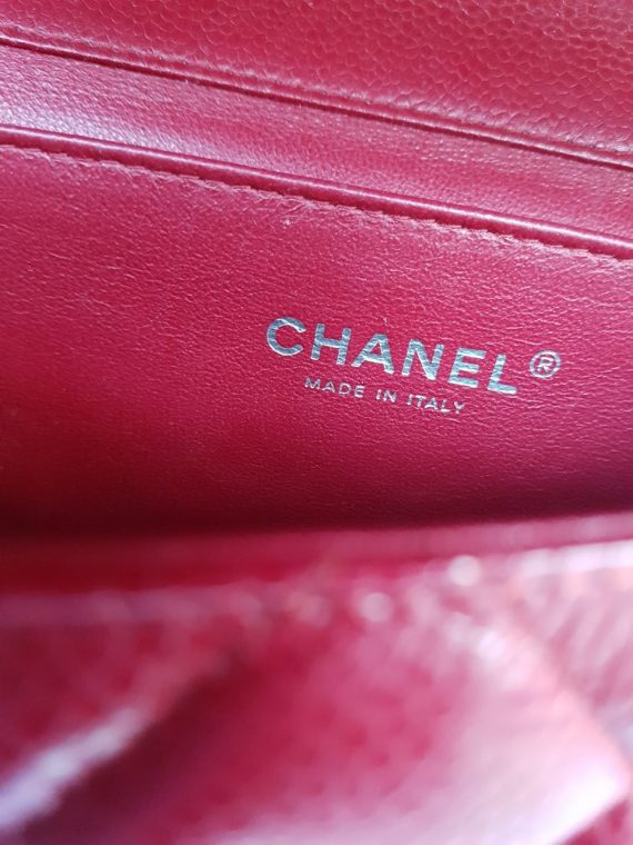 Authentic Chanel Jumbo Clutch Burgundy Red authentication services