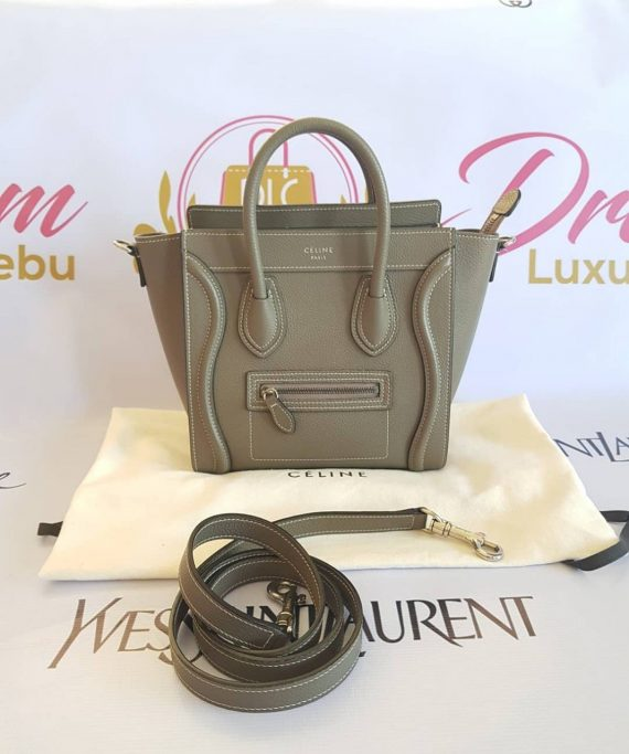 Authentic Celine Nano Luggage in Drummed Leather philippines