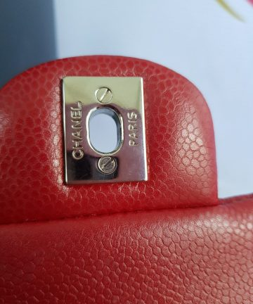 Authentic Chanel Jumbo Clutch Burgundy Red sale Philippines