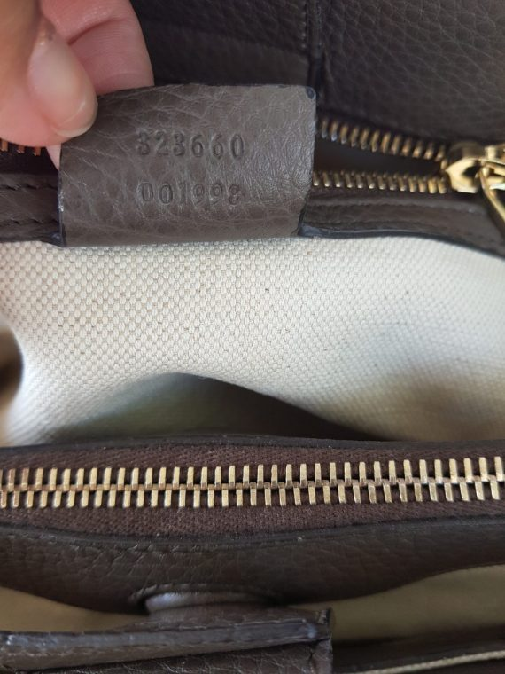 consign Gucci Bamboo Handbag Grained Leather