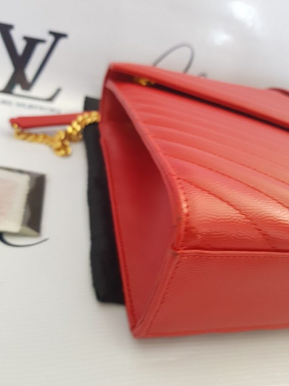 Authentic Ysl Saint Laurent monogramme envelope Large in caviar leather Gold hardware monthly payments