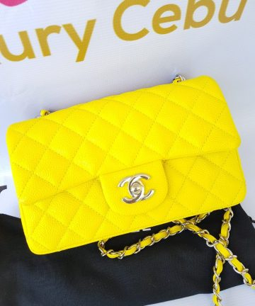 Authentic Chanel Mini Flap Caviar in Yellow philippines