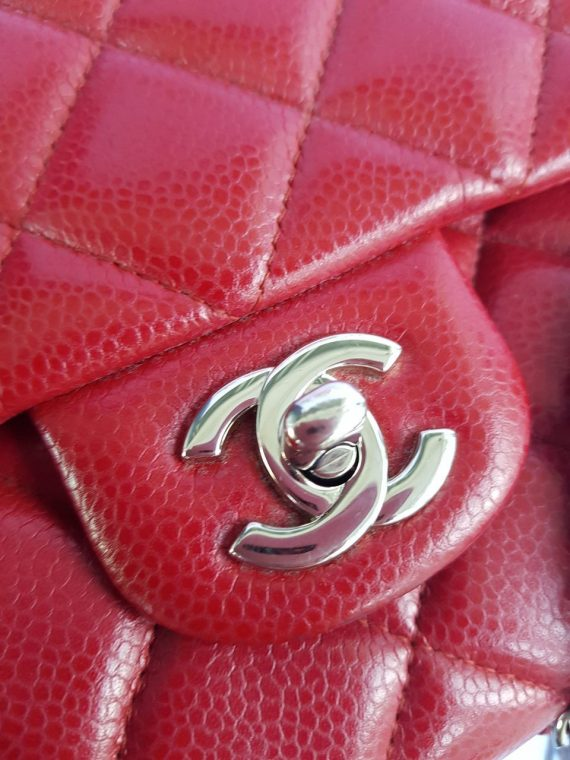 Authentic Chanel Jumbo Clutch Burgundy Red terms layaway