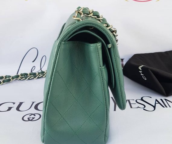 Authentic Chanel classic jumbo double clap in blue green Series 24 cebu