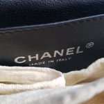 buy and sell Authentic Chanel jumbo clutch black patent in silver hardware series 17