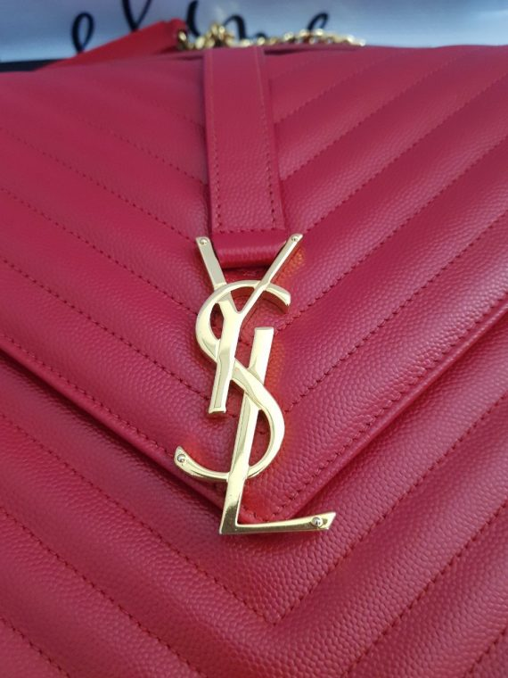 Authentic Ysl Saint Laurent monogramme envelope Large in caviar leather Gold hardware layaway terms